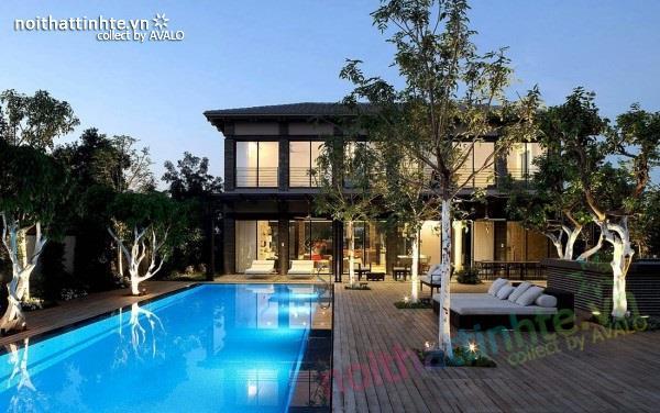 Thiết kế nhà đẹp với mặt bằng rộng cùng nhiều nét kiến trúc hấp dẫn
