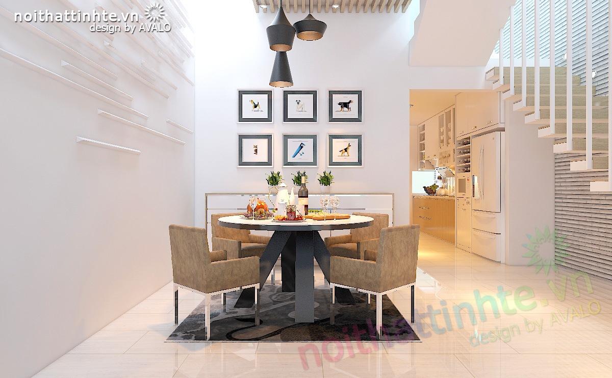 Thiết kế nội thất nhà lô 60m2 trẻ trung cá tính