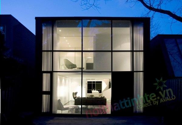 Thiết kế nhà nhỏ đẹp bên đồi đường đồi Russel Hill
