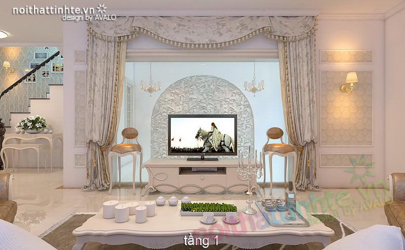 Thiết kế nội thất biệt thự Dương Nội anh Vinh