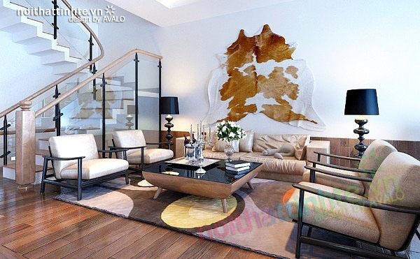 Thiết kế nội thất biệt thự phong cách đương đại