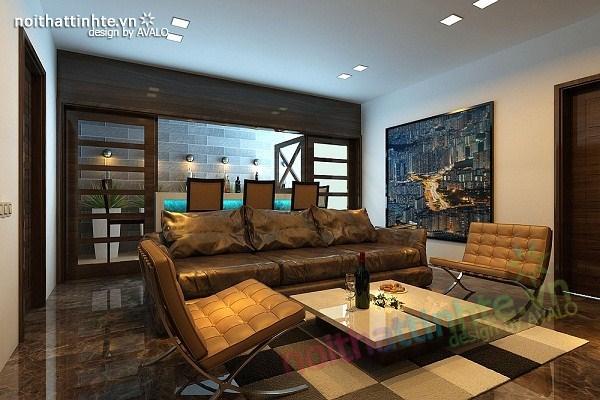 Thiết kế nội thất biệt thự Việt Hưng - Phong cách Đức mạnh mẽ