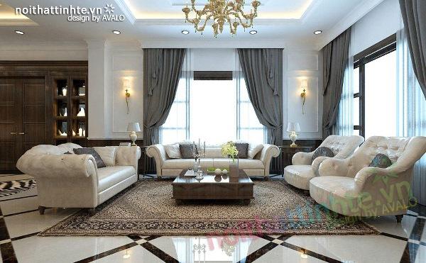 Thiết kế nội thất biệt thự Vincom Village Sài Đồng - Nhà anh Hóa