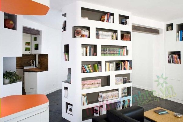 Thiết kế nội thất cải tạo căn hộ 60 m2 nhỏ đẹp