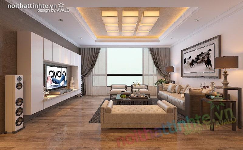 Thiết kế nội thất căn hộ chung cư Hyundai Hillstate loại F 139m2 anh Hải