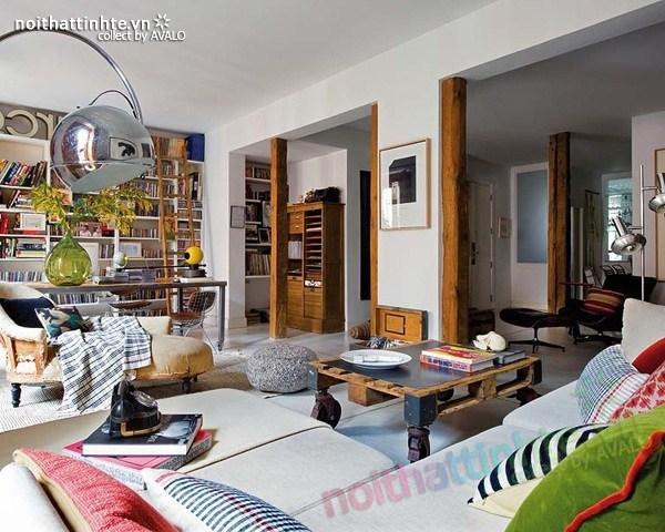 Thiết kế nội thất chung cư bùng nổ với màu sắc