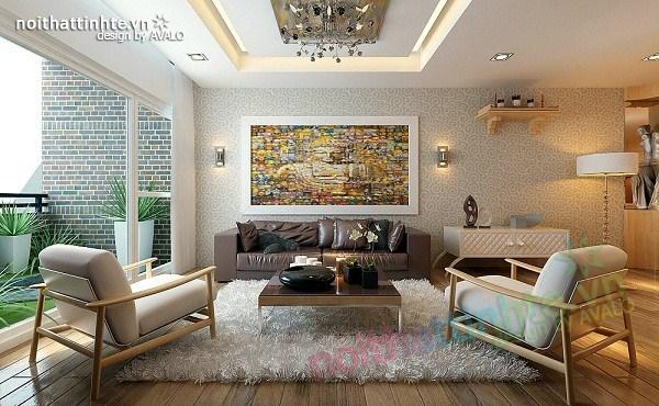 Thiết kế nội thất chung cư hiện đại 90 m2 nhà anh Hợi Tam Đa