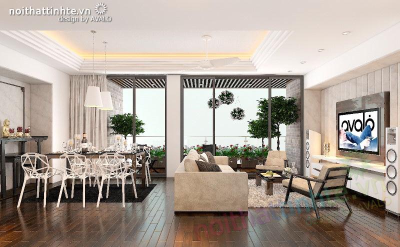 Thiết kế nội thất chung cư Hiện đại N04 Hoàng Đạo Thúy