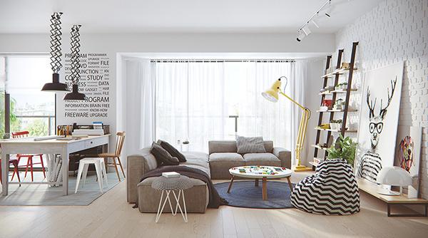 Thiết kế nội thất chung cư theo phong cách Scandinavian hiện đại