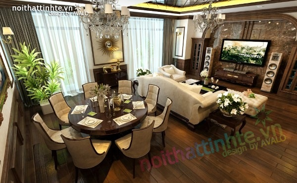 Thiết kế nội thất chung cư Royal city nhà anh Duy