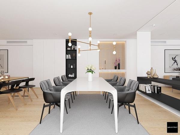Thiết kế nội thất chung cư sang trọng có hai phòng ngủ