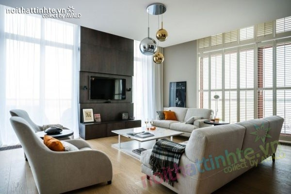 Thiết kế nội thất chung cư sang trọng và hiện đại Warsaw