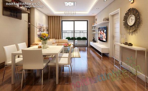 Thiết kế nội thất chung cư Times City anh Giang