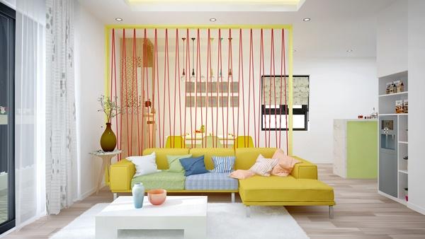 Thiết kế nội thất căn hộ chung cư tươi trẻ và hiện đại