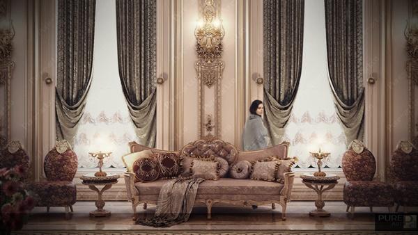 Thiết kế nội thất sang trọng mang cảm hứng Louis Pháp