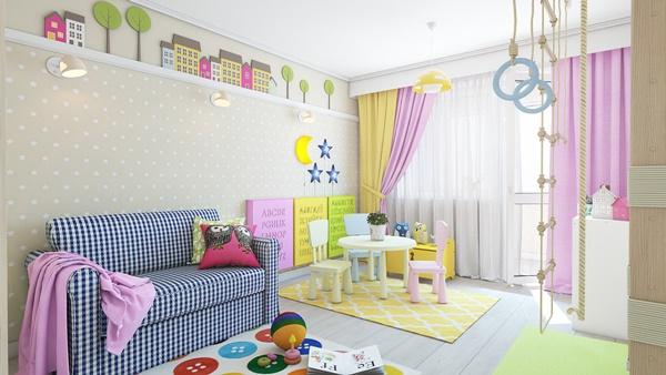 Mẫu thiết kế phòng ngủ dịu dàng cho bé gái