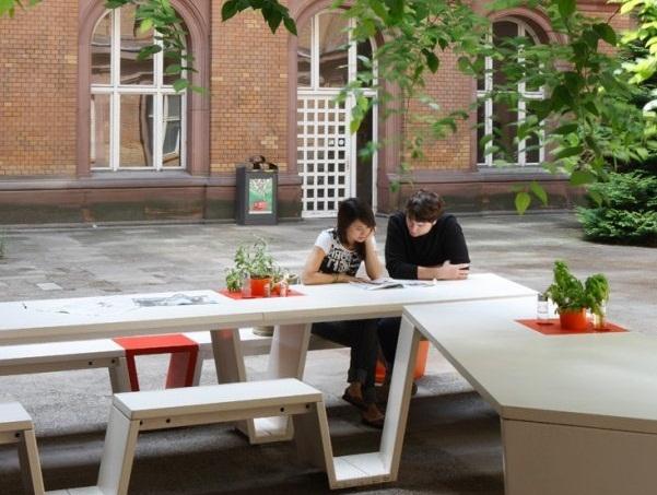 Thiết kế quán cafe đẹp trong khuôn viên trường đại học TU Berlin