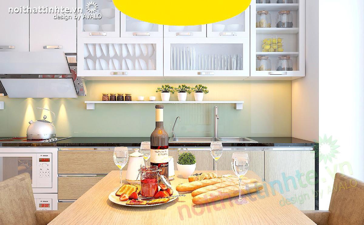 Thiết kế nội thất chung cư nhỏ 60m2 Kim Văn Kim Lũ Mường Thanh - anh Trực