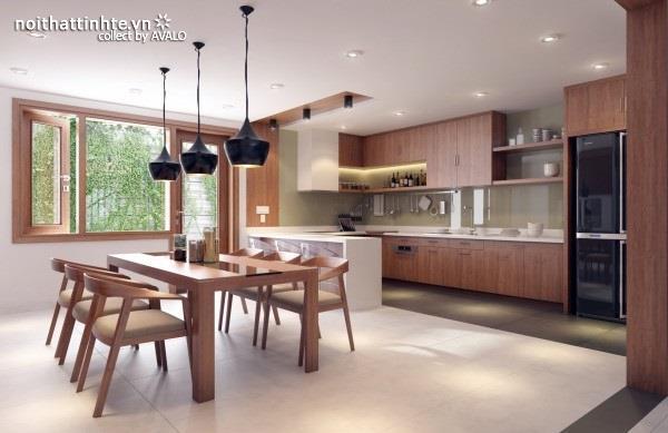 Thiết kế nội thất thân thiện với tự nhiên: vật liệu gỗ chủ đạo và các vườn và cây xanh trong nhà