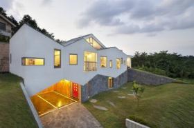 Mau nha dep 2 tang Panorama House o Han Quoc