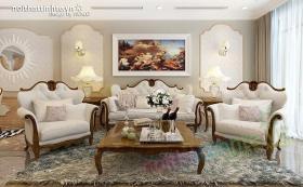 Thiet ke noi that chung cu Royal city 135 m2 72 Nguyen Trai