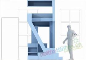 Trang tri nha nho dep – phan chia can phong 16 m2