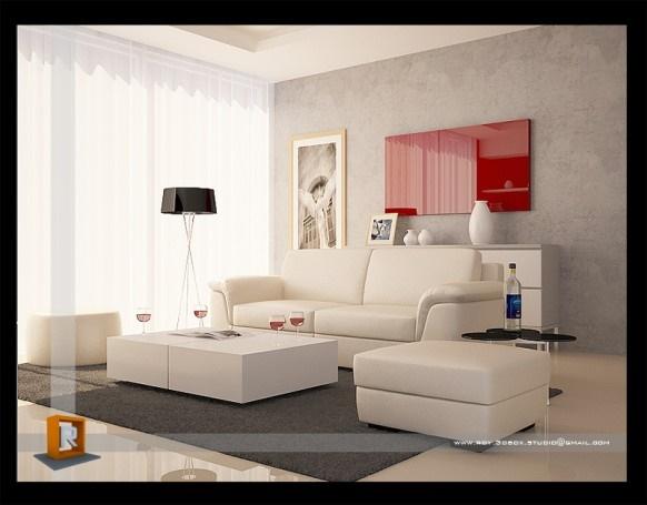 Trang trí phòng khách đẹp với chủ đề màu đỏ