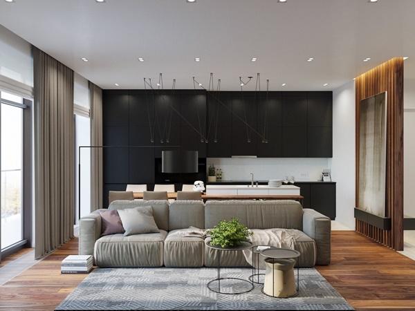 Vẻ mộc mạc trong căn hộ chung cư hiện đại