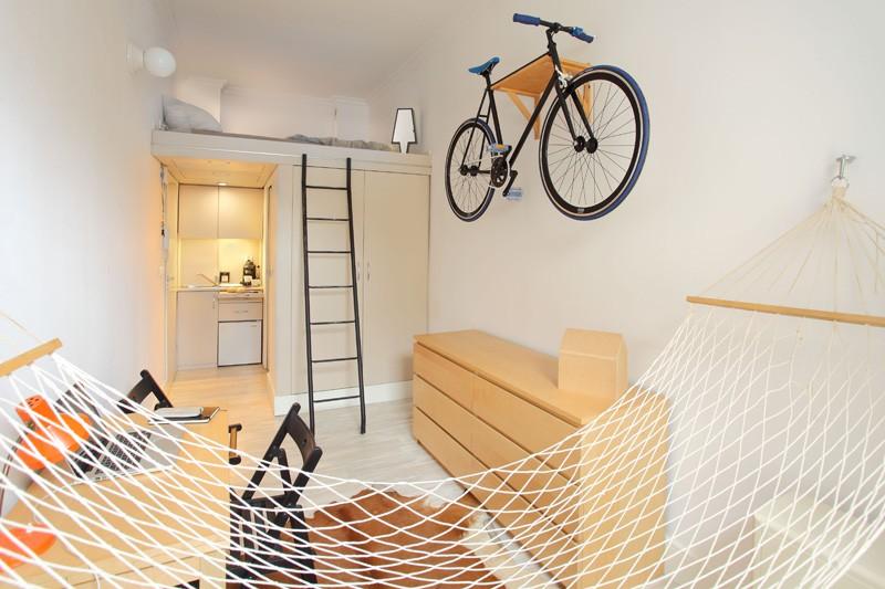 Thiết kế nội thất căn hộ chỉ 13m2 với đầy đủ các chức năng đáng ngạc nhiên