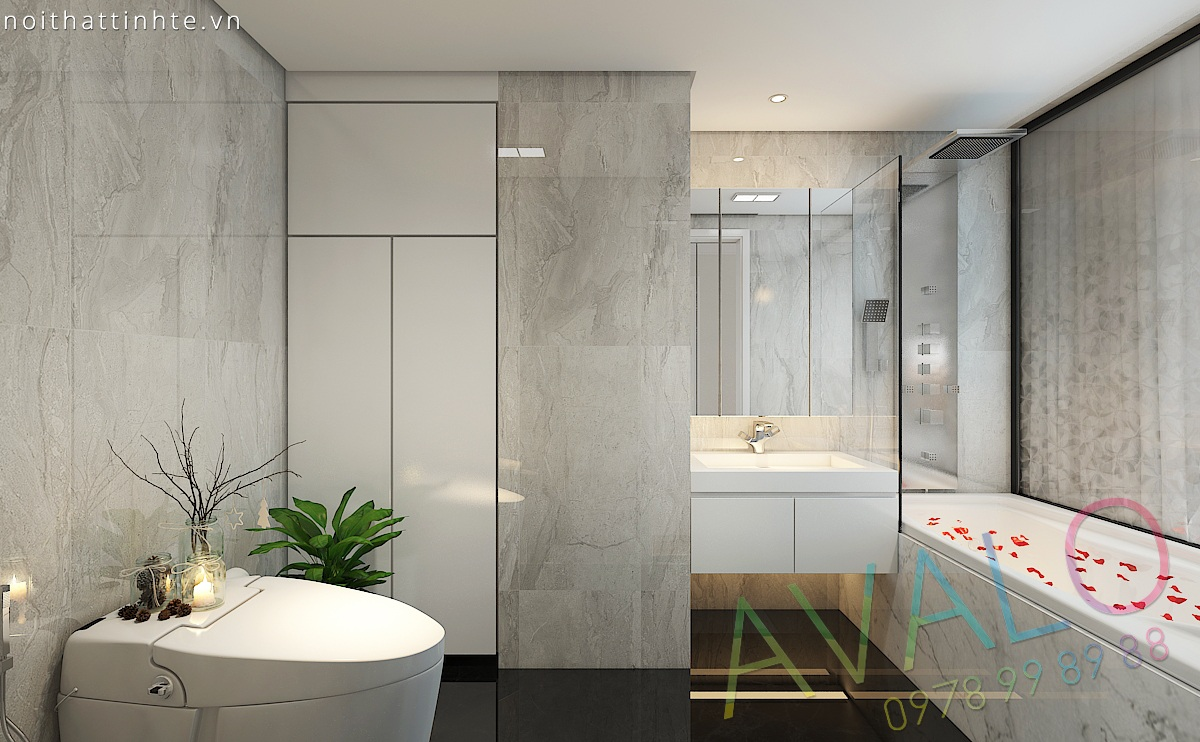 Thiết kế nội thất phòng tắm đẹp, hiện đại - AVALO