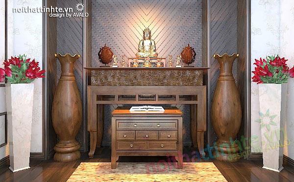 Thiết kế nội thất phòng thờ, trang trí nội thất phòng thờ - AVALO
