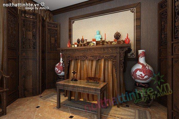 Mẫu bàn thờ gia tiên đẹp 02