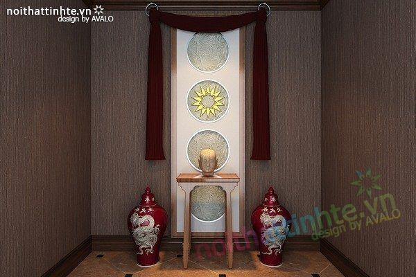 Mẫu bàn thờ gia tiên đẹp 06