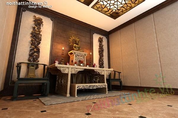 Bàn thờ phật nhà chị Linh Ciputra