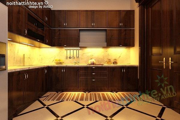 Nhà bếp đẹp phong cách Á Đông