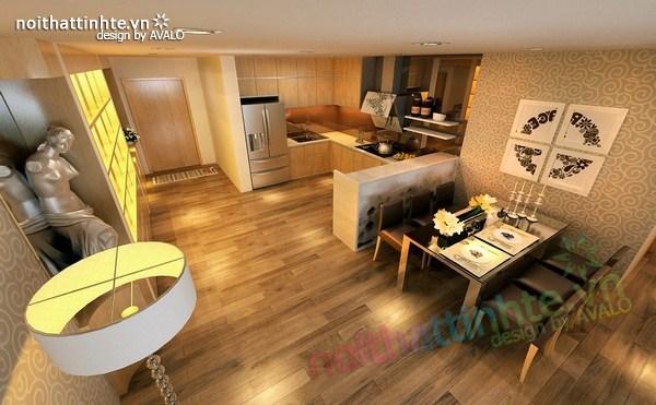 Trang trí phòng ăn đẹp với căn hộ chung cư Tam Đa