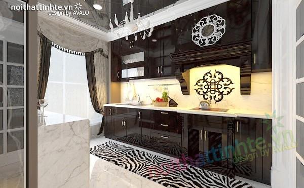 Thiết kế nội thất nhà Bếp Royal city anh Quang 02