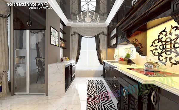 Thiết kế nội thất nhà Bếp Royal city anh Quang 03