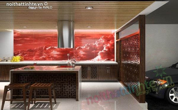 Thiết kế Nhà bếp đẹp Á đông đương đại 04