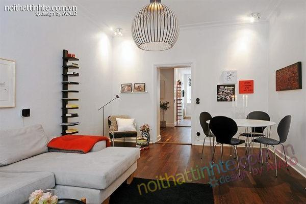 Thiết kế nội thất tinh tế căn hộ 2 phong 50m2-01