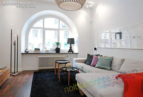 Thiết kế nội thất tinh tế căn hộ 2 phong 50m2-03
