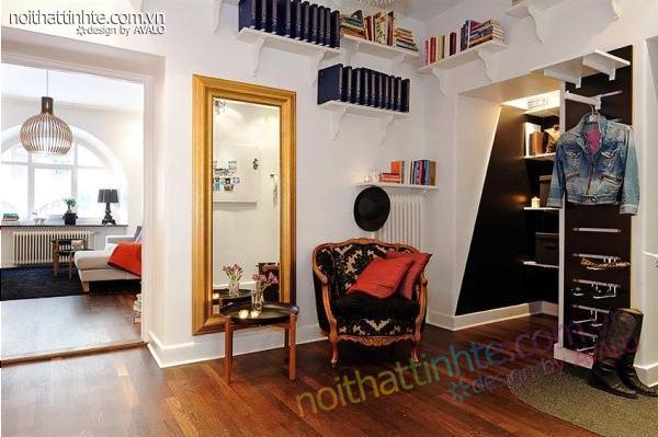 Thiết kế nội thất tinh tế căn hộ 2 phong 50m2-08