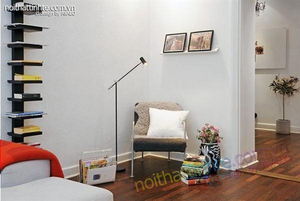 Thiết kế nội thất tinh tế căn hộ 2 phong 50m2-09