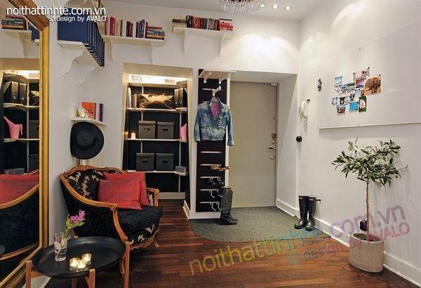 Thiết kế nội thất tinh tế căn hộ 2 phong 50m2-10