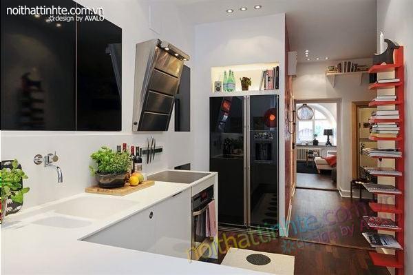 Thiết kế nội thất tinh tế căn hộ 2 phong 50m2-13