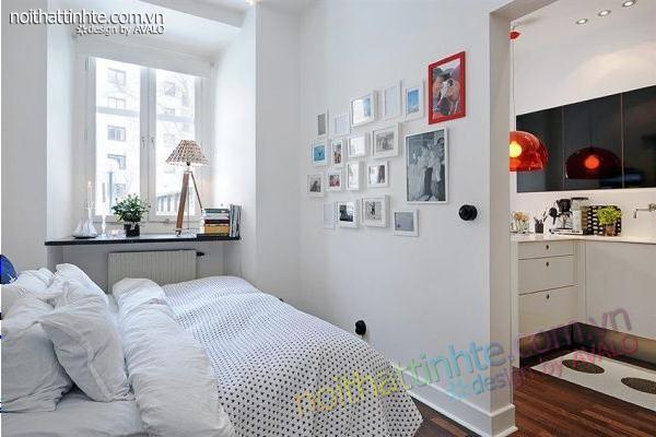 Thiết kế nội thất tinh tế căn hộ 2 phong 50m2-20