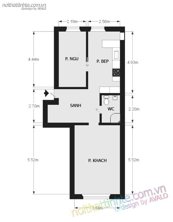 Thiết kế nội thất tinh tế Avalo