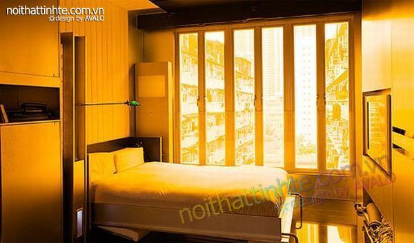 thiết kế nội thất sáng tạo căn hộ biến hình 01