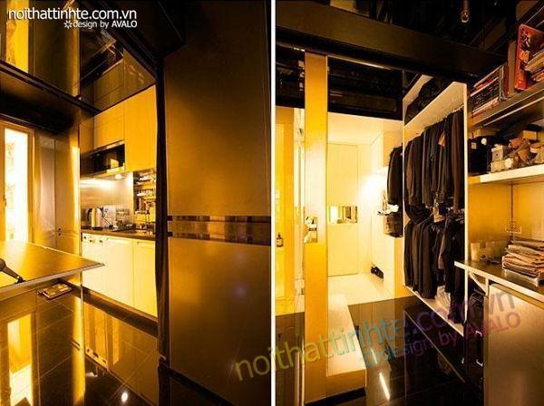 thiết kế nội thất sáng tạo căn hộ biến hình