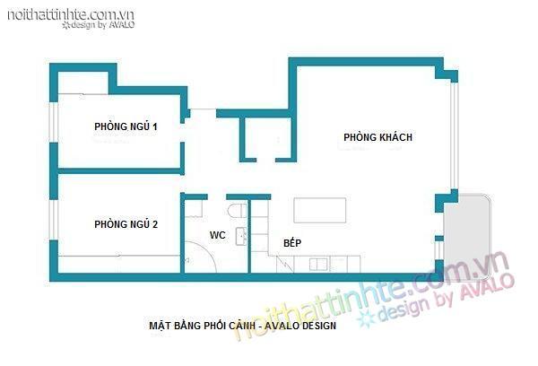 thiết kế nội thất chung cư trẻ trung tinh tế 01